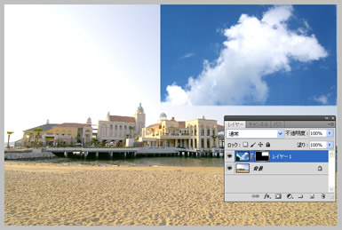 Photoshop CS5 �u���V�c�[���Ń}�X�N�̕\���̈���쐬
